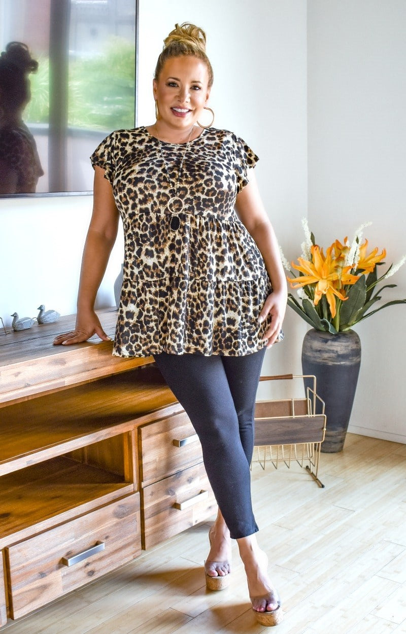 Load image into Gallery viewer, Wild Child Leopard Print Top