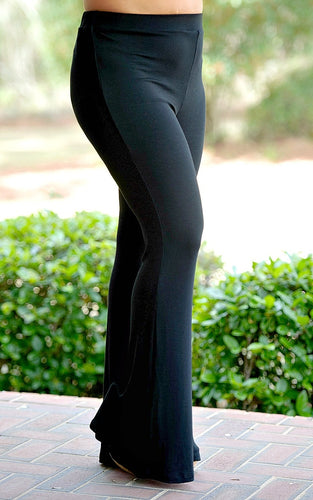 Check It Off High Waisted Pants - Black