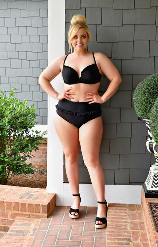 Lakeside Retreat Two Piece Swimsuit - Black