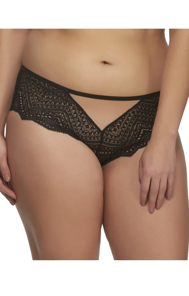 The Stunning Cutout Hipster Panty - Black