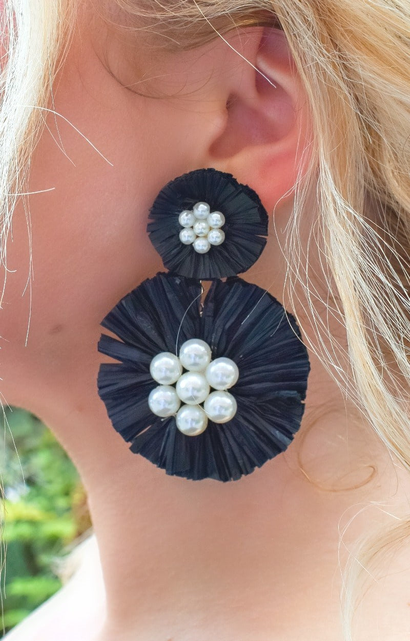 Delighted To See You Earrings - Black