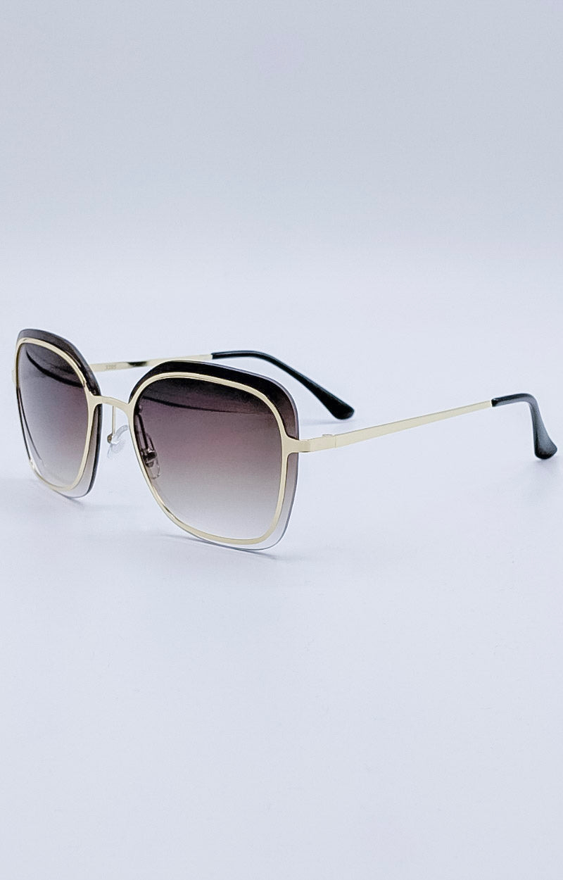 Load image into Gallery viewer, Ray Of Light Sunglasses - Gold/Smoke