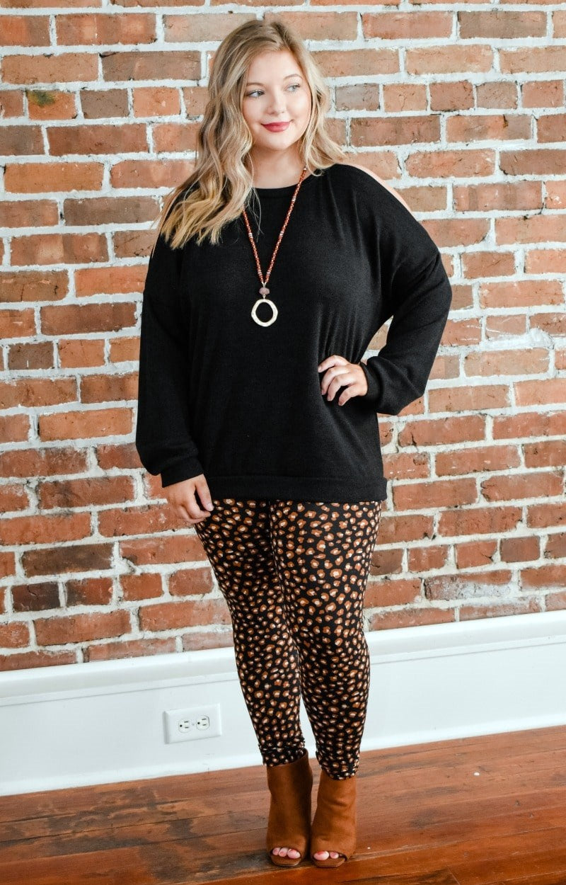 Just Roll With It Leopard Print Leggings