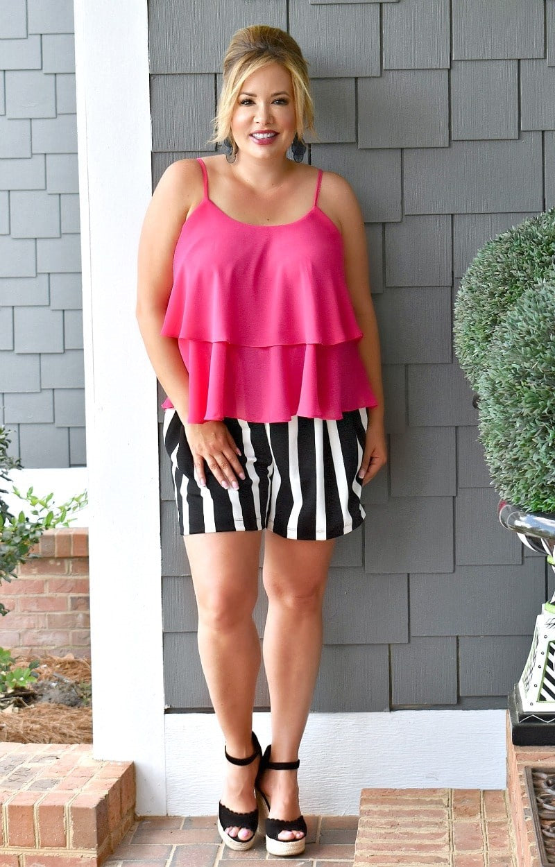 Load image into Gallery viewer, Bold & Brash Striped Shorts - Black/White