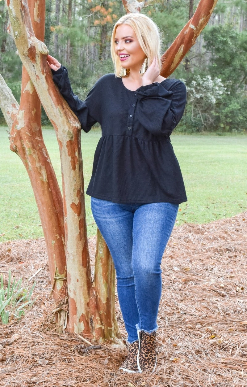 Work Your Charm Top - Black