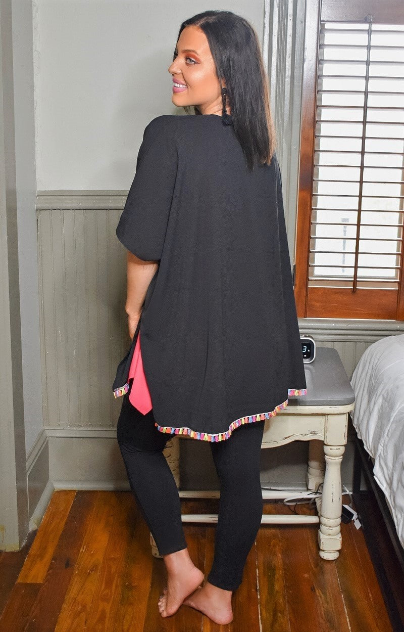 Load image into Gallery viewer, All Time Favorite Kimono/Cover Up - Black