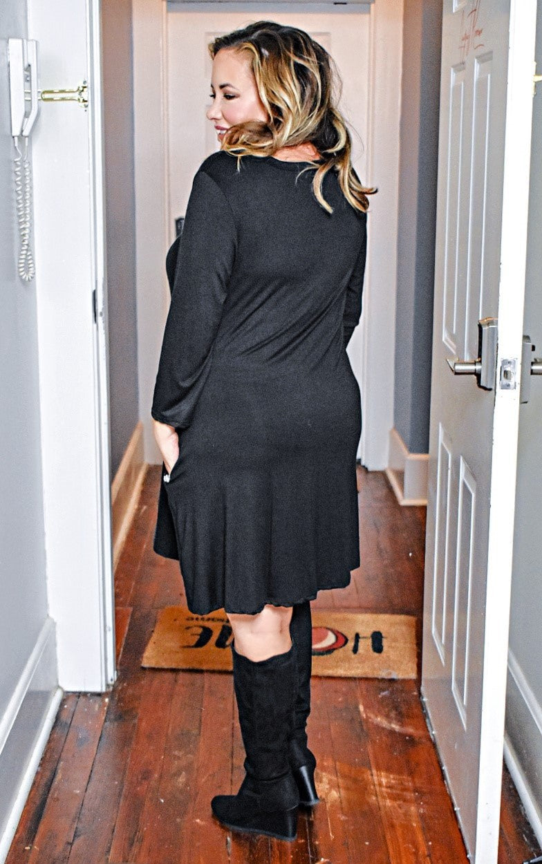 Load image into Gallery viewer, Can't Forget Me Dress - Black