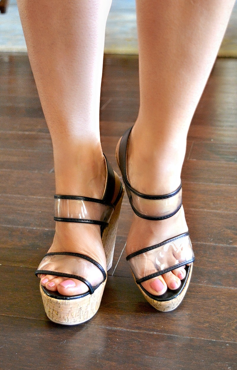 Breaking Rules Wedges - Clear/Black