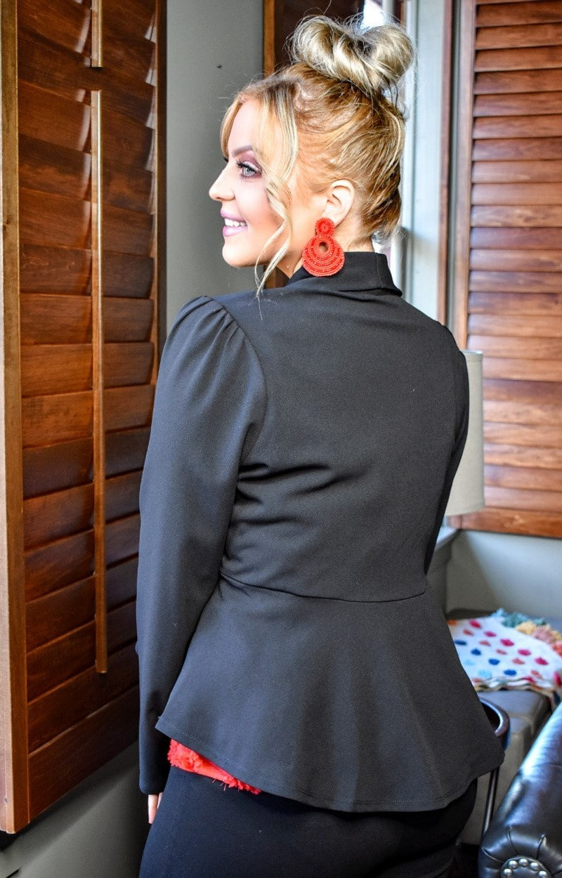 Playing The Part Blazer - Black