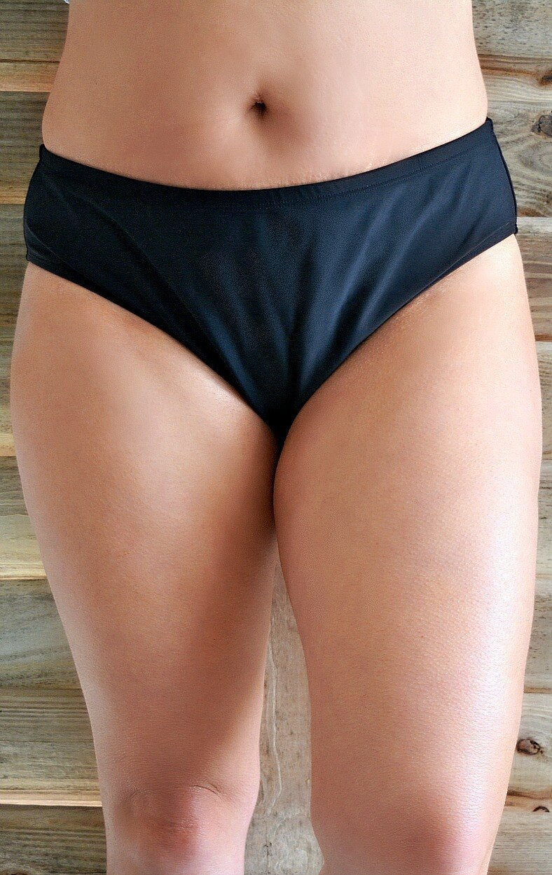 Load image into Gallery viewer, Warmer Waters Bikini Bottoms - Black