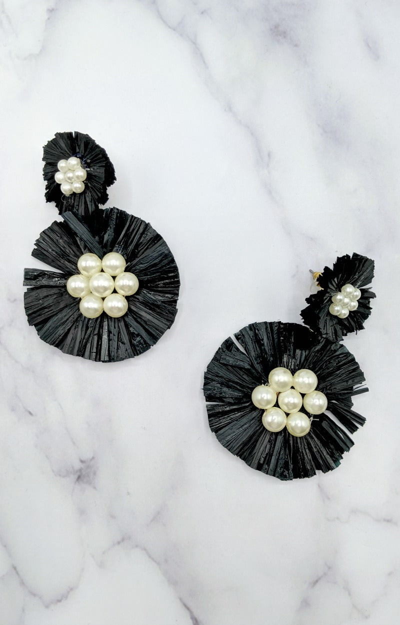 Load image into Gallery viewer, Delighted To See You Earrings - Black