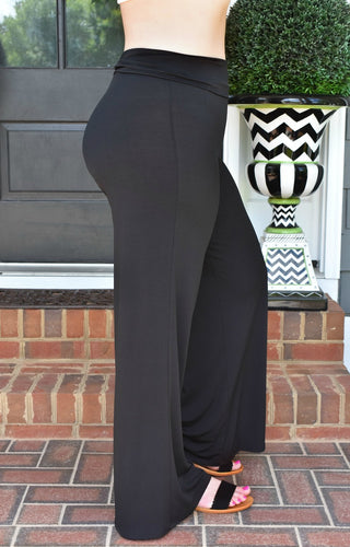 Always Acting Palazzo Pants - Black
