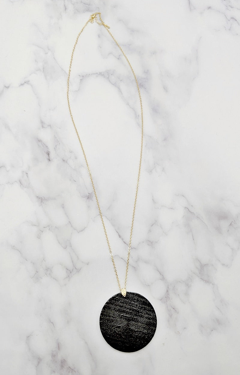 Losing Time Necklace - Black