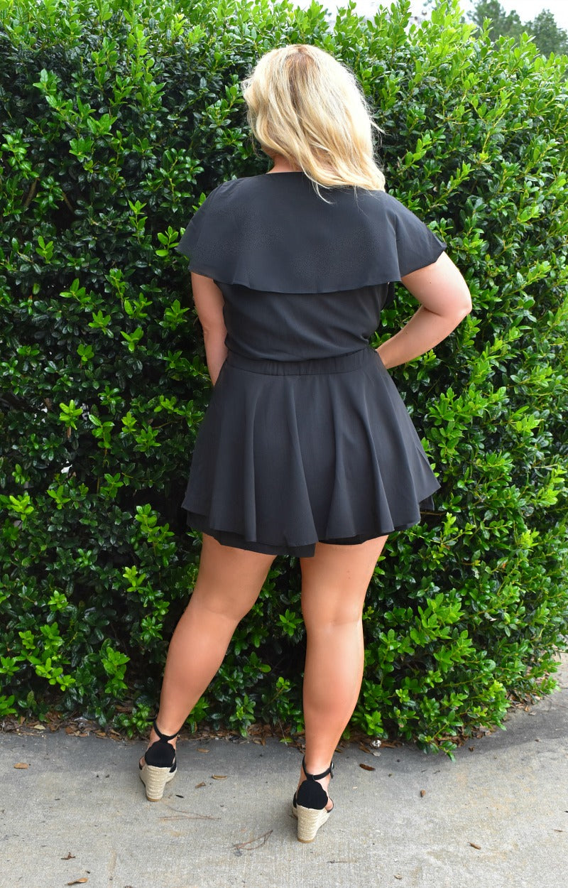 Load image into Gallery viewer, Raise A Glass Romper - Black