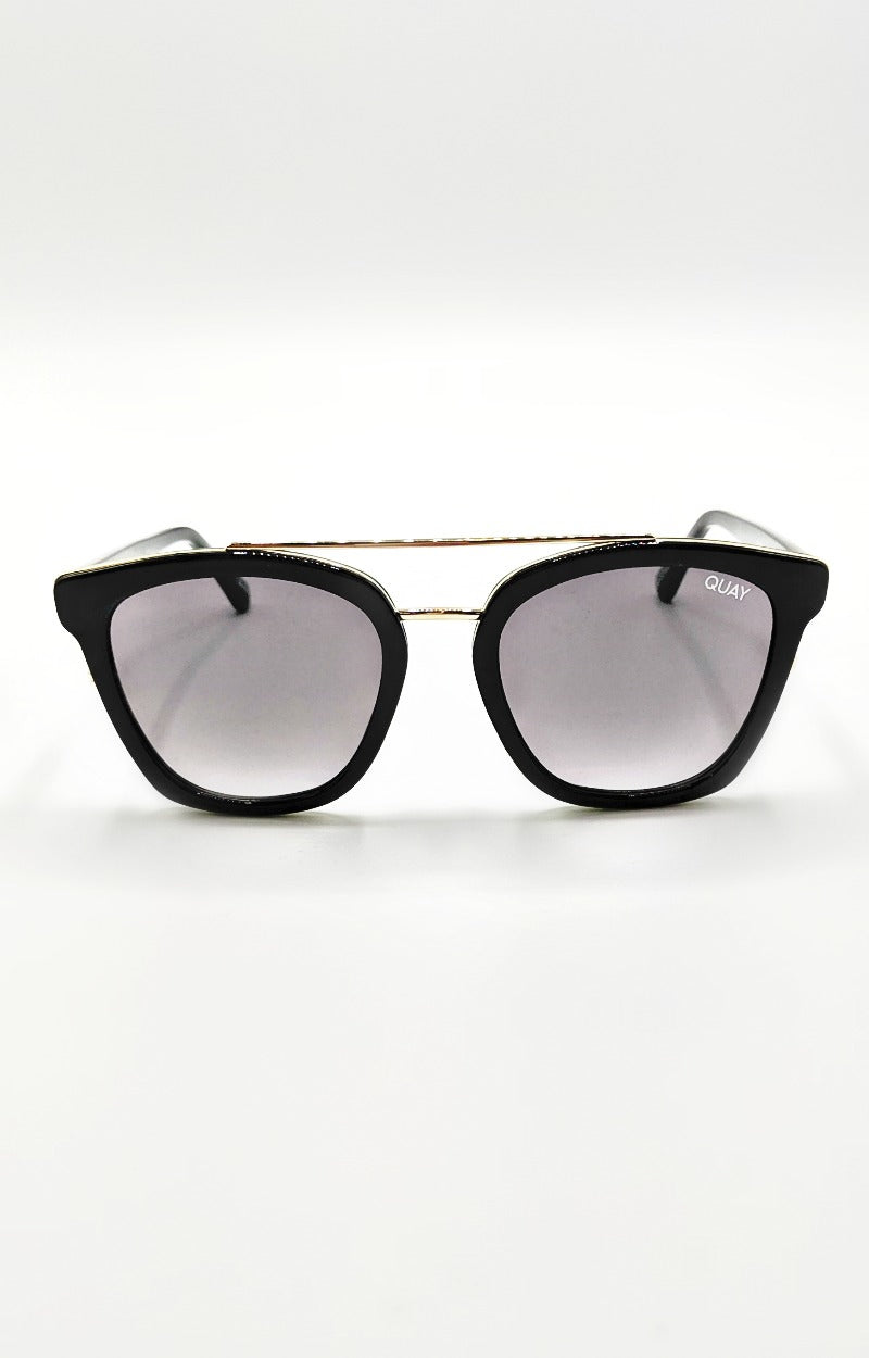 Load image into Gallery viewer, Quay Australia - Sweet Dreams Sunglasses - Black/Smoke