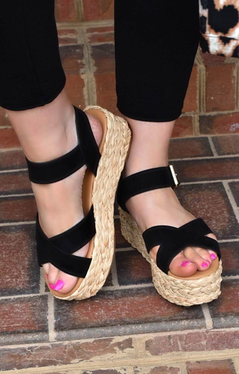 Get To Know Me Wedges - Black