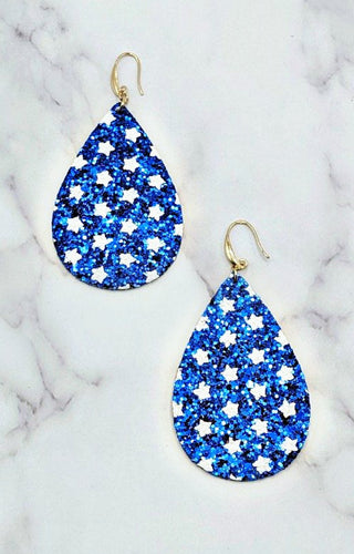 Star Spangled & Sparkling Earrings - Blue