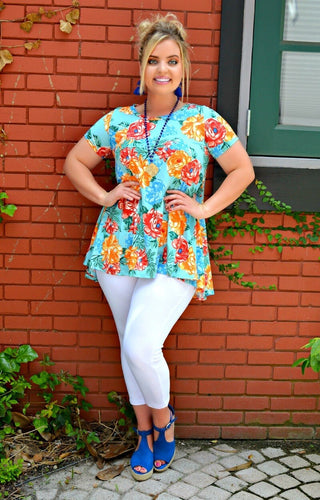 Fashionably Late Floral Top - Multi