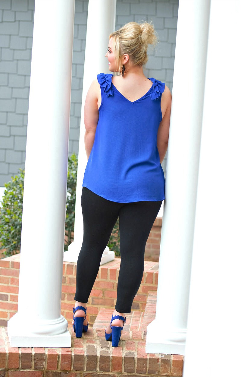 Outside The Lines Top - Royal Blue