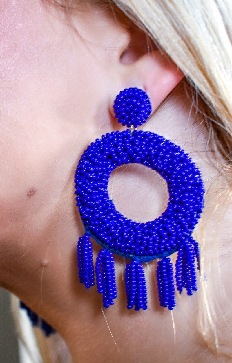 No Secrets Here Earrings - Blue