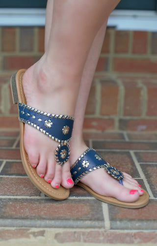 Saying Hello Sandals - Navy