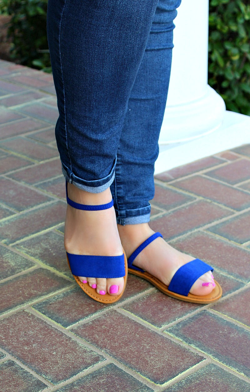 Load image into Gallery viewer, Gotta Move Fast Sandals - Royal Blue