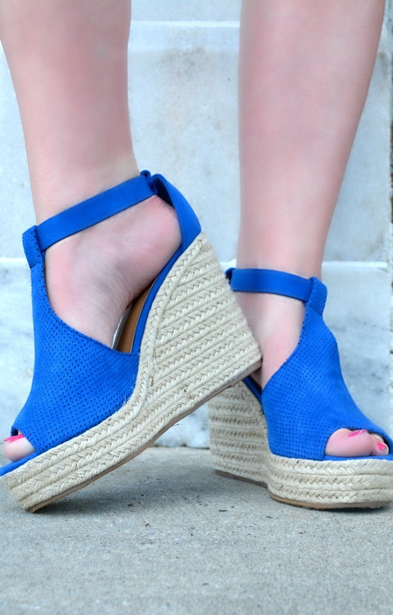 Load image into Gallery viewer, Running Back Wedges - Royal Blue
