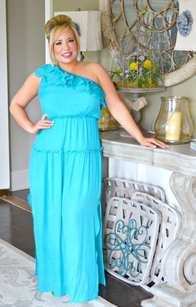 After Party Maxi Dress - Teal