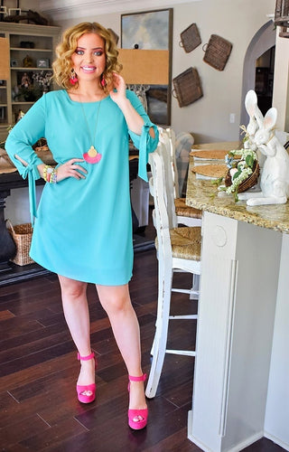 Run The World Dress - Dark Mint