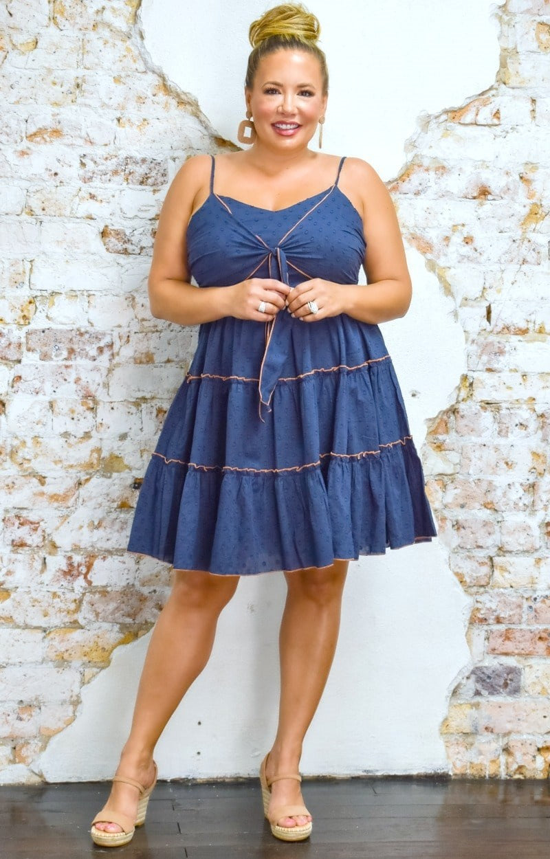 Load image into Gallery viewer, Take Me Out Tonight Dress - Navy