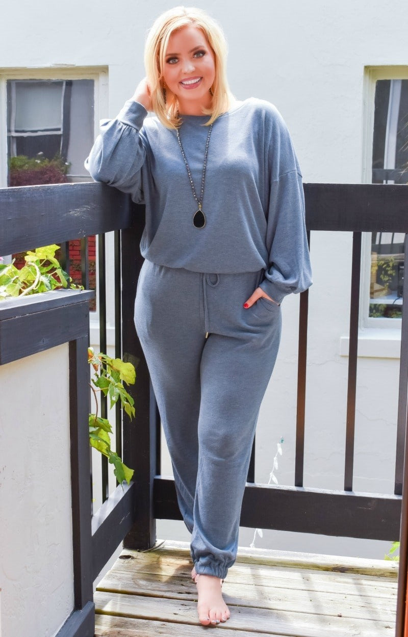 Load image into Gallery viewer, Just Lounging Around Pullover - Slate Blue