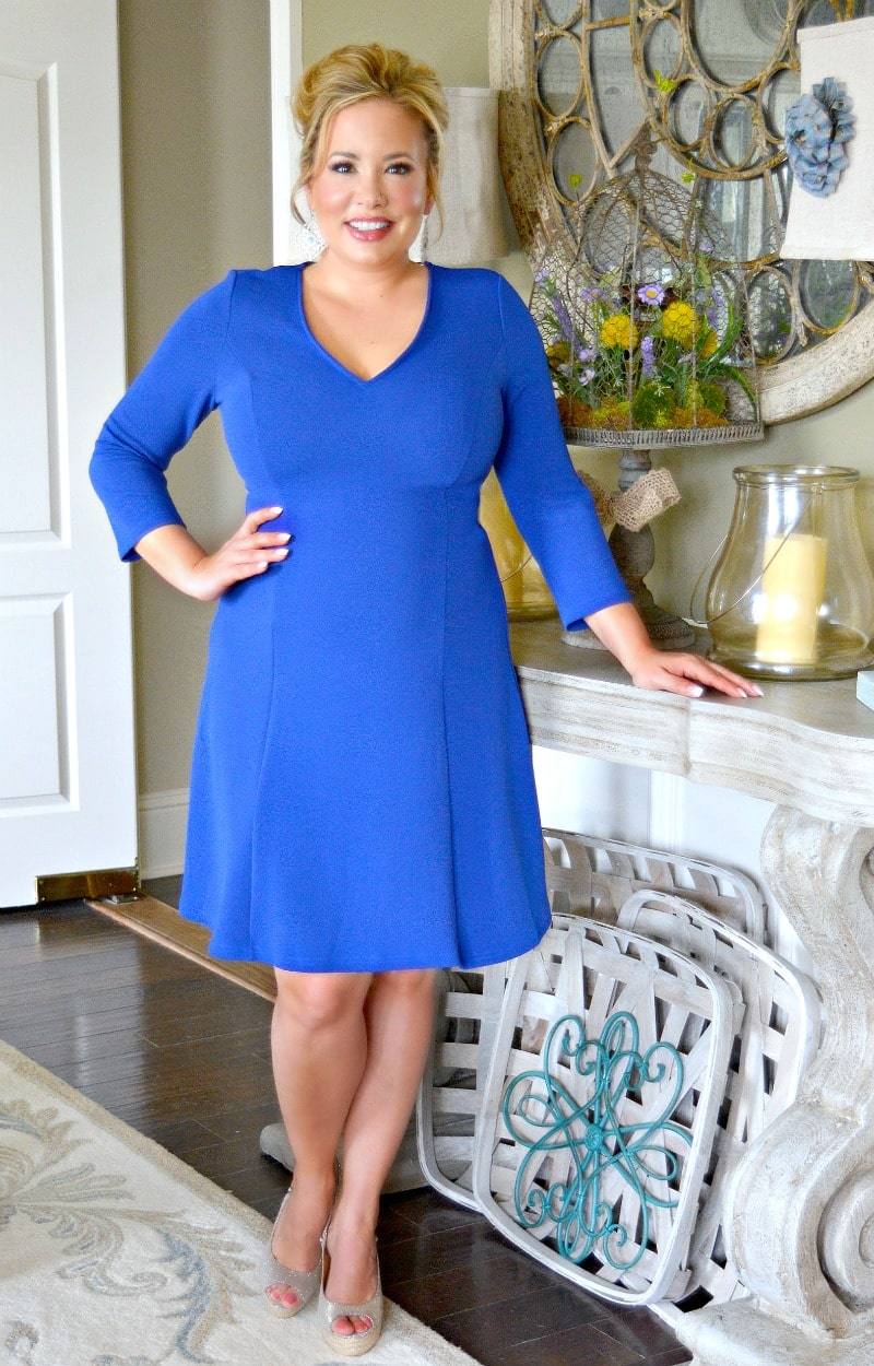 The Real Deal Dress - Royal Blue