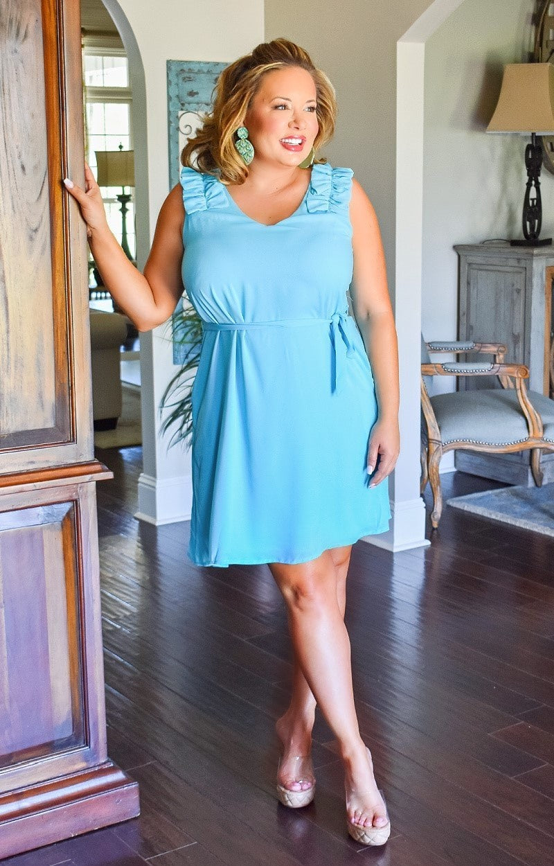 Load image into Gallery viewer, Love Of A Lifetime Dress - Aqua