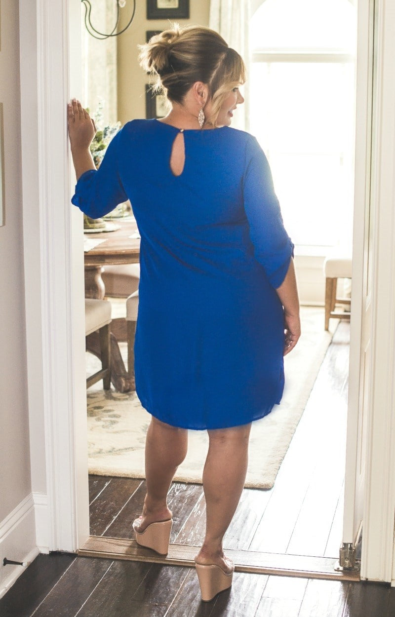 Load image into Gallery viewer, Set The Tone Dress - Royal Blue