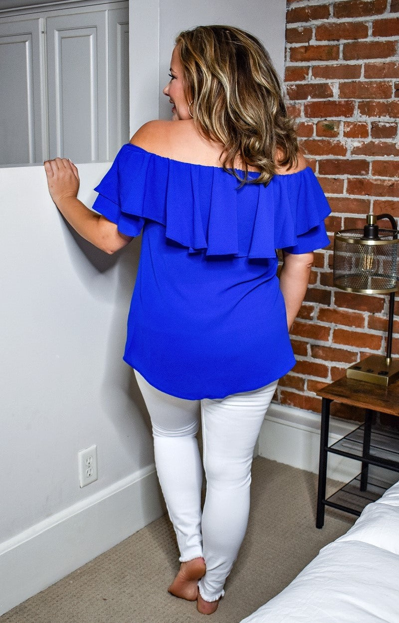 Simple And Sweet Top - Royal Blue