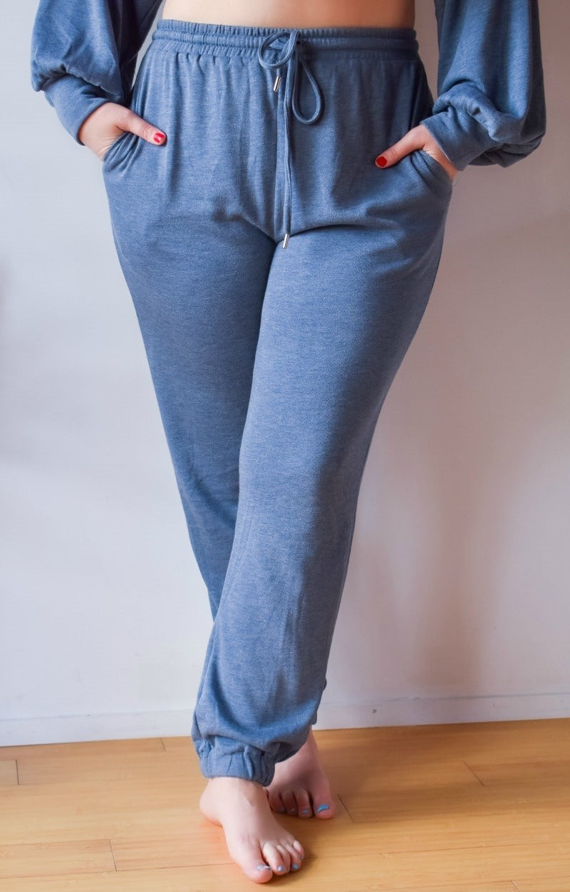 Load image into Gallery viewer, Just Lounging Around Joggers - Slate Blue