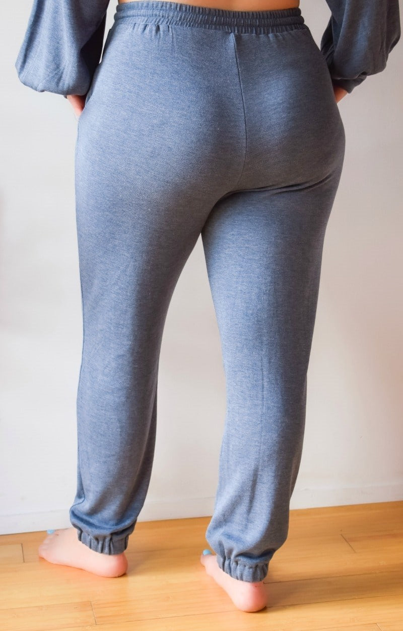 Just Lounging Around Joggers - Slate Blue