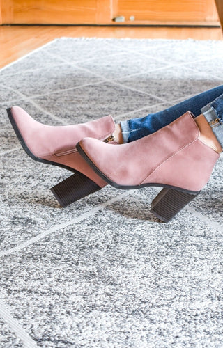 Just The Start Booties - Blush