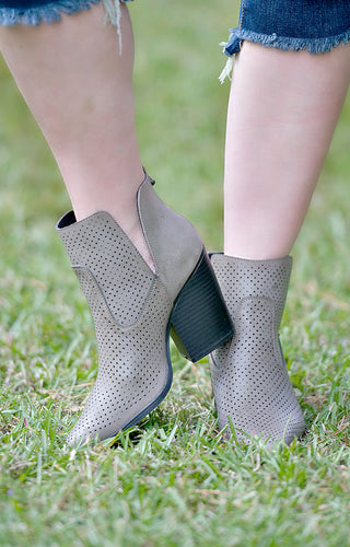Make A Move Booties - Dark Taupe