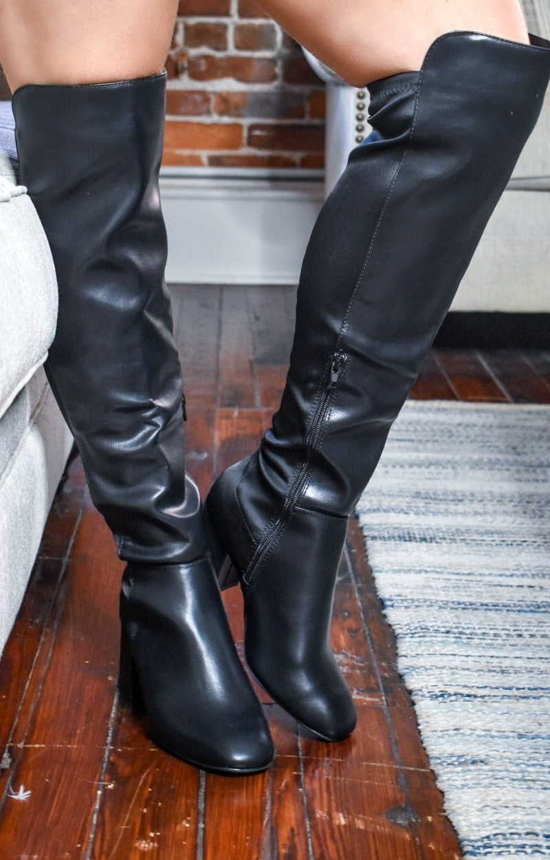 Any Other Way Knee Boots - Black
