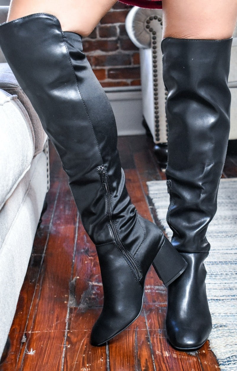 Load image into Gallery viewer, Any Other Way Knee Boots - Black