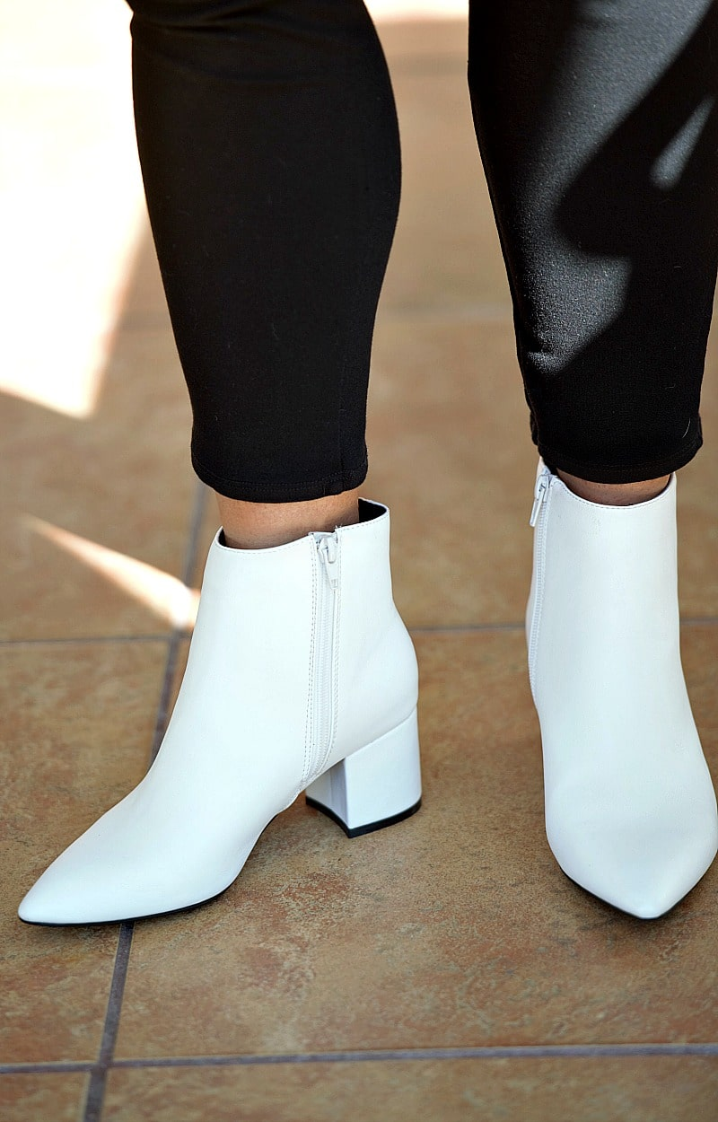 My Sidekick Ankle Booties - White