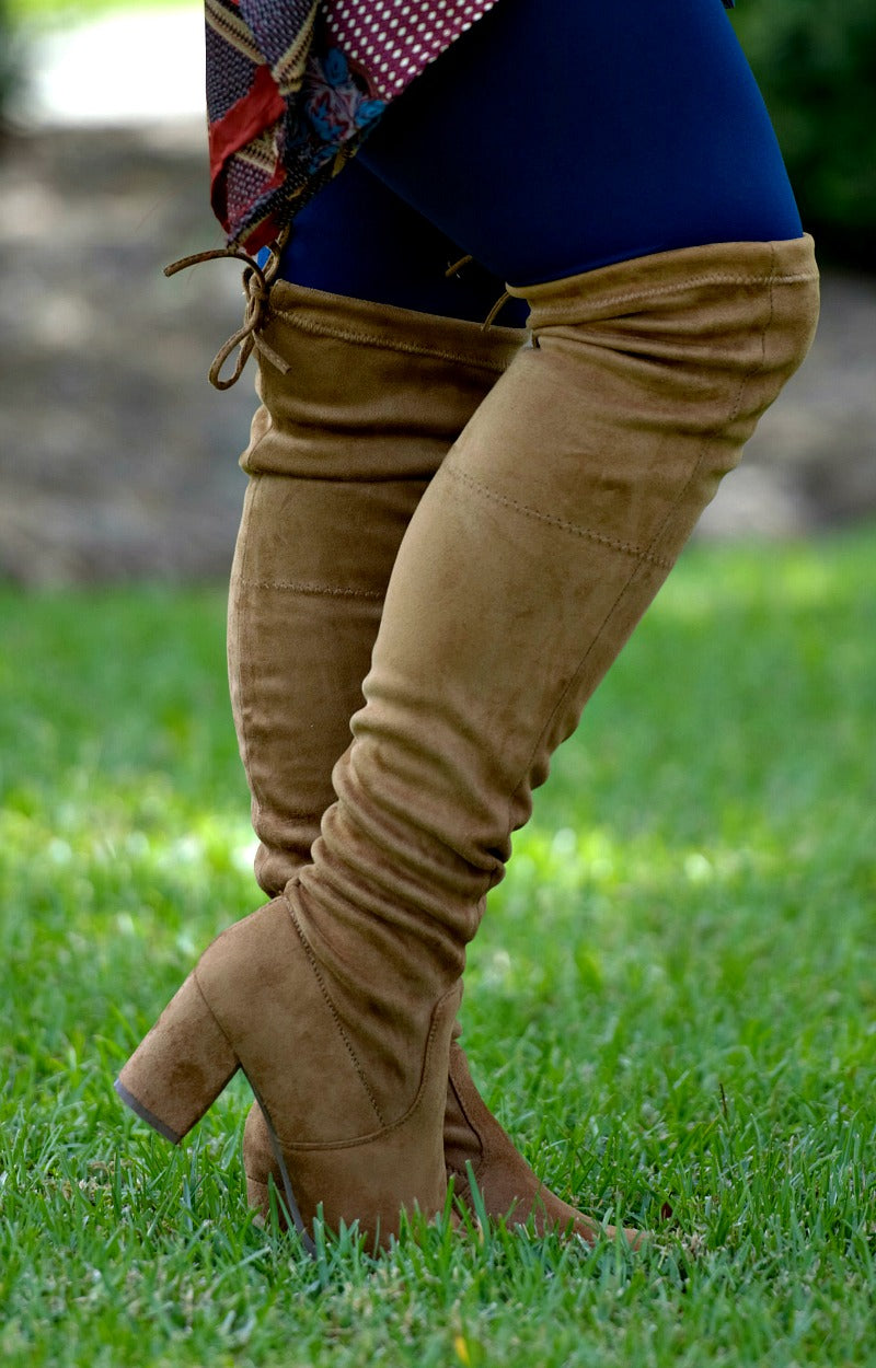 High Demand Over The Knee Boots - Tan