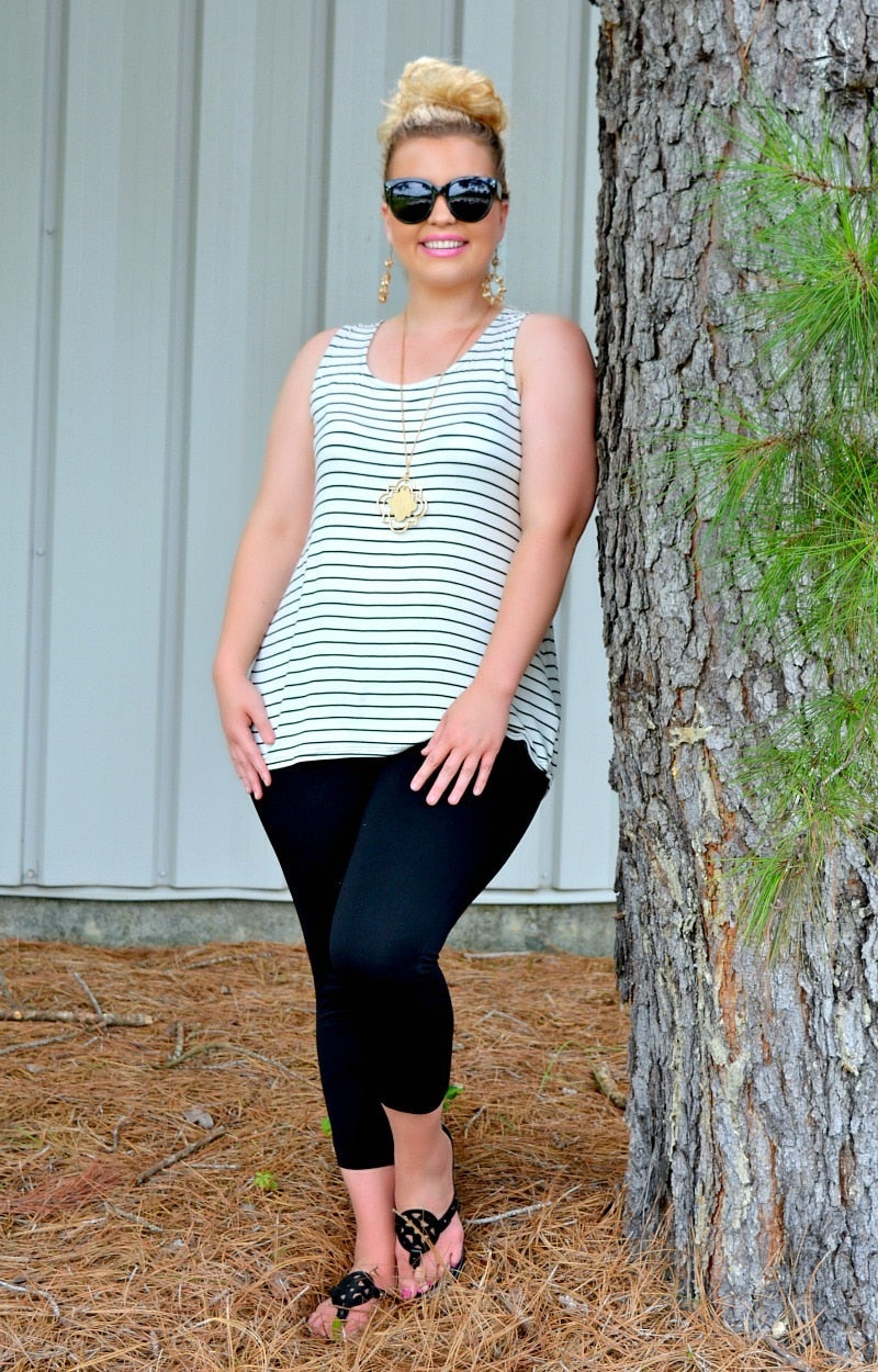 Load image into Gallery viewer, Want My Love Striped Top - Ivory/Black