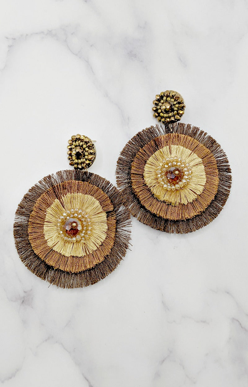 Best Efforts Earrings - Brown