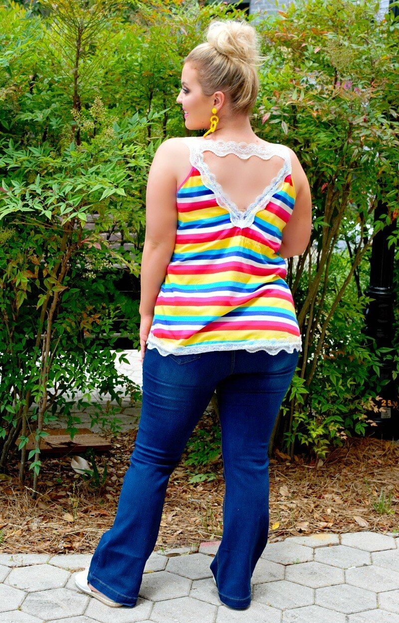 Load image into Gallery viewer, Future Is Bright Striped Top - Multi