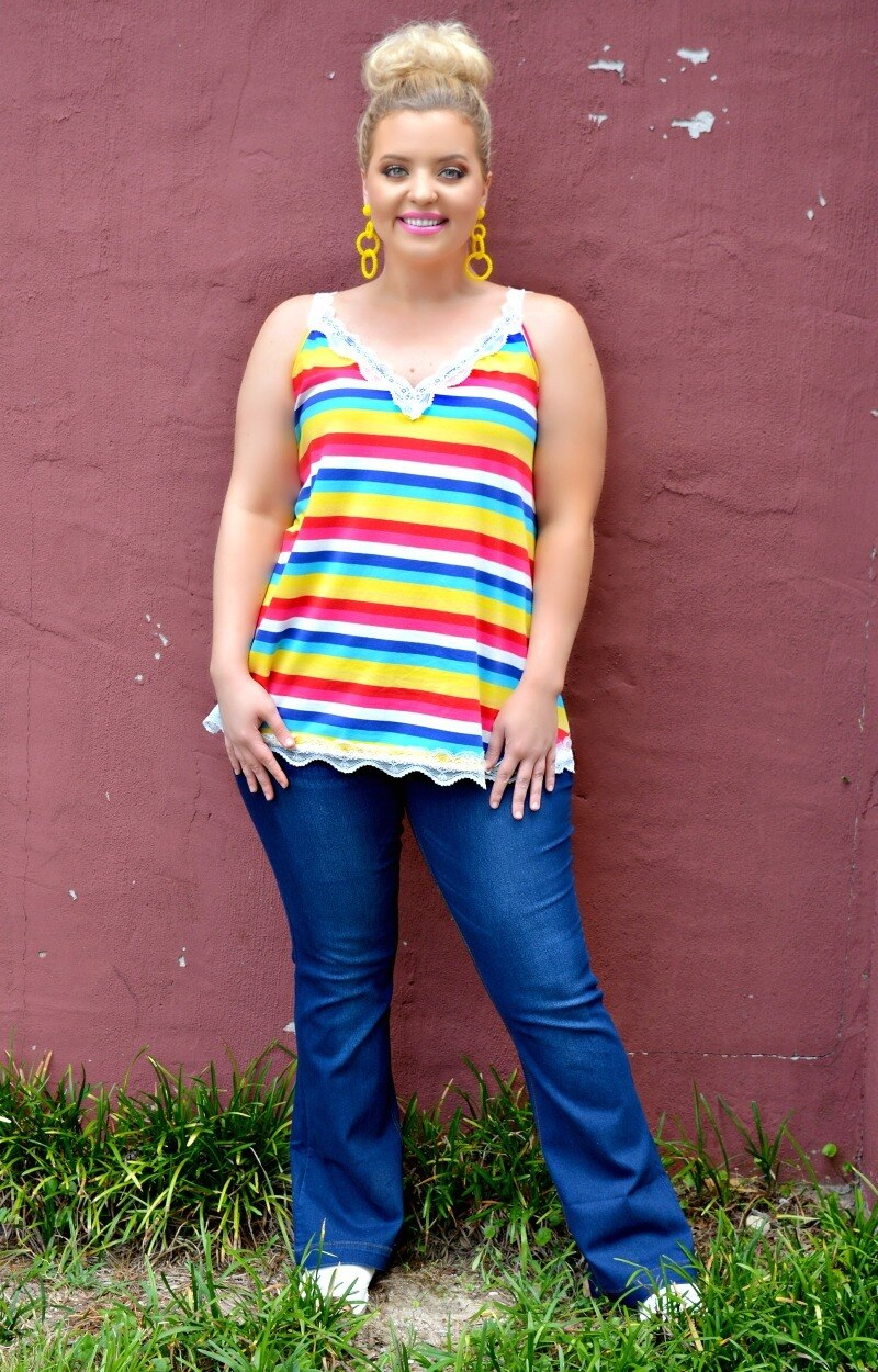 Future Is Bright Striped Top - Multi