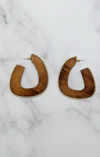 Watch Closely Earrings - Brown