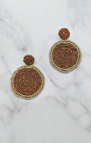 Nothing But The Best Earrings - Brown