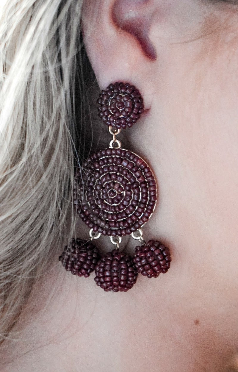 Load image into Gallery viewer, In Any Event Earrings - Brown